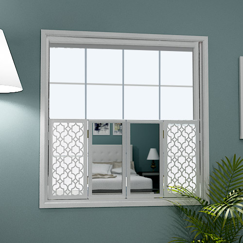Mirror window shutters huge range online i custom designs for Decorative interior wall shutters