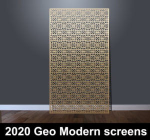 2020 Geometric pattern laser cut screen and decorative panels