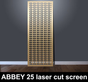 Abbey 25 modern laser cut fretwork panels
