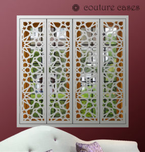 Decorative Interior window security shutters modern design