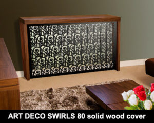 ART DECO SWIRLS 80 Soild wood frame radiator covers