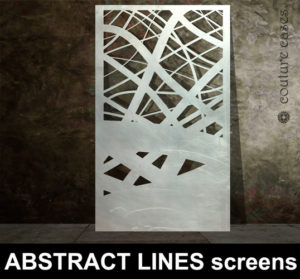 Abstract Lines laser cut metal panels