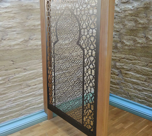 Decorative wooden frames for all laser cut metal fretwork screens