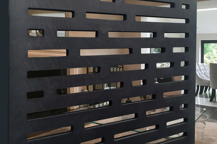 Decorative Black MDF screens for room partitions