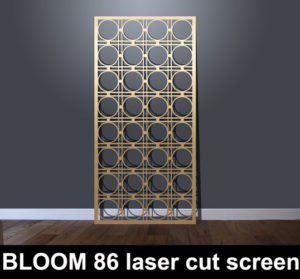 BLOOM 86 laser cut fretwork screens and decorative fretwork panels
