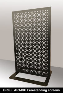 BRILL ARABIC freestanding screens and perforated fretwork