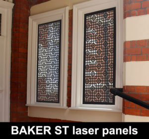 Baker street laser cut metal panels