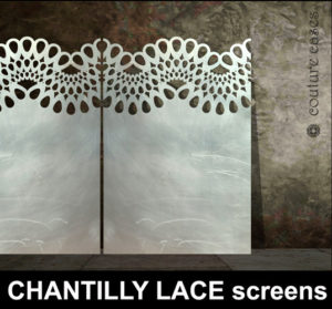 CHANTILLY LACE laser cut panels