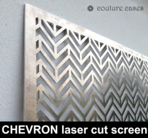 CHEVRON laser cut metal screens and architectural fretwork