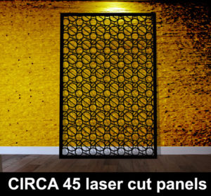 CIRCA 45 laser cut metal screens and fretwork panels