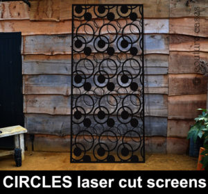CIRCLES laser cut metal screens and garden panels in decorative designs