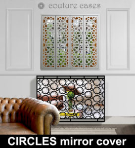 Modern radiator covers with mirrors
