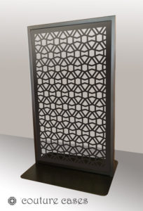 CLOUT freestanding laser cut metal panels