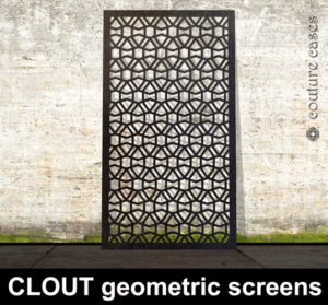 CLOUT geometric laser cut metal screens and architectural panels