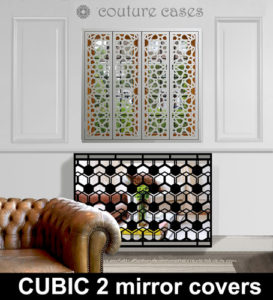 Laser cut mirror radiator covers