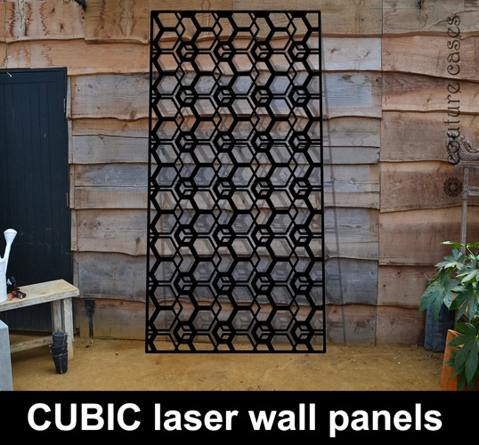 cubic laser cut decorative panels in metal and mdf  u2013 laser