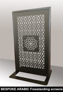 Custom made bespoke laser cut screens