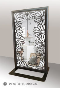 DAISIES freestanding laser cut mirror room partitions
