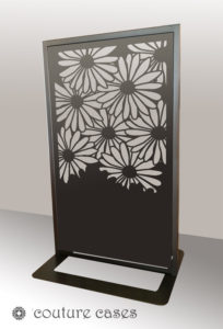 DAISY CRUSH freestanding laser cut metal room dividers