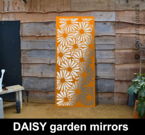 Decorative garden wall panels in Daisy pattern