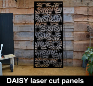Garden panels in laser cut metal
