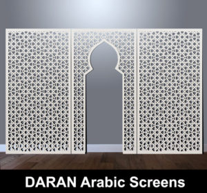 Daran arabvic and moroccan laser cut screens