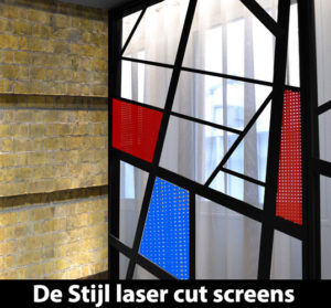 De Stijl laser cut screens and panels
