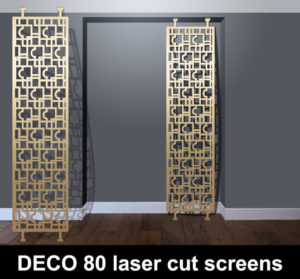 DECO 80 freestanding laser cut panels