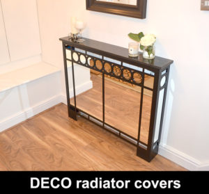 ART DECO mirrored radiator cover with granite top