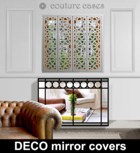Deco laser cut radiator covers for Art Deco interior
