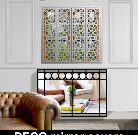 Modern mirror radiator covers
