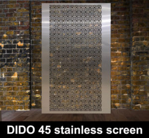 DIDO 45 stainless steel perforated fretwork screen