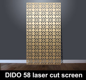DIDO 58 laser cut metal screens for architectural interiors