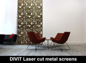 DIVIT laser cut metal screens for modern homes