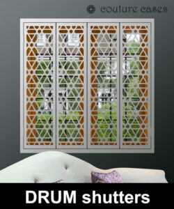 Decorative Interior window security shutters stylish design