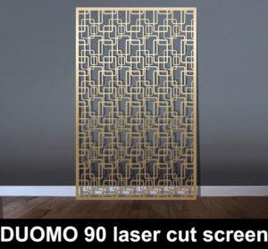 DUOMO 90 laser cut rectangles metal screen