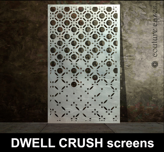 Dwell Crush Laser Cut Metal Screens Laser Cut Screens