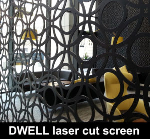 DWELL Laser cut metal screens for modern homes and interiors