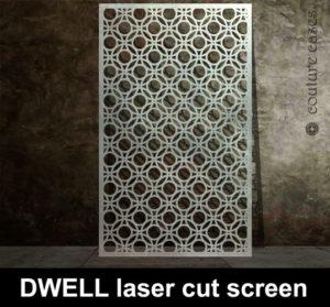 DWELL Laser cut metal screens custom made