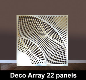 DECO Array 22 laser cut panels