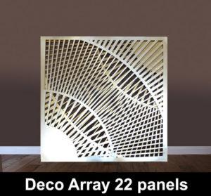 DECO Array 22 laser cut panels