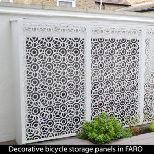 FARO bicycle storage screens in London