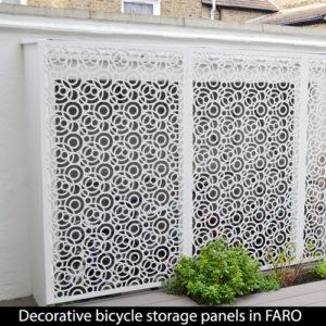 FARO bicycle storage screens in London