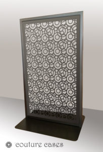 FARO freestanding laser cut metal panels
