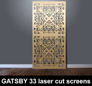 GATSBY 33 art deco laser cut screens