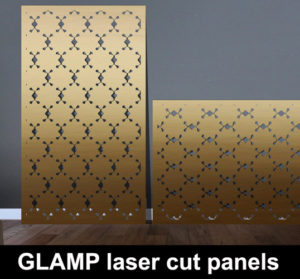 GLAMP laser cut metal screens and fretwork panels