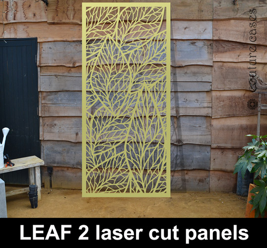 GOLD Leaf Laser Cut Metal Patterns For The Home And Garden