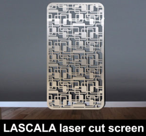La Scala laser cut screen in stainless steel metal