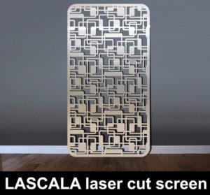 La Scala laser cut screen in stainless steel metal