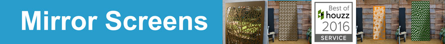 Garden mirrors and garden panels